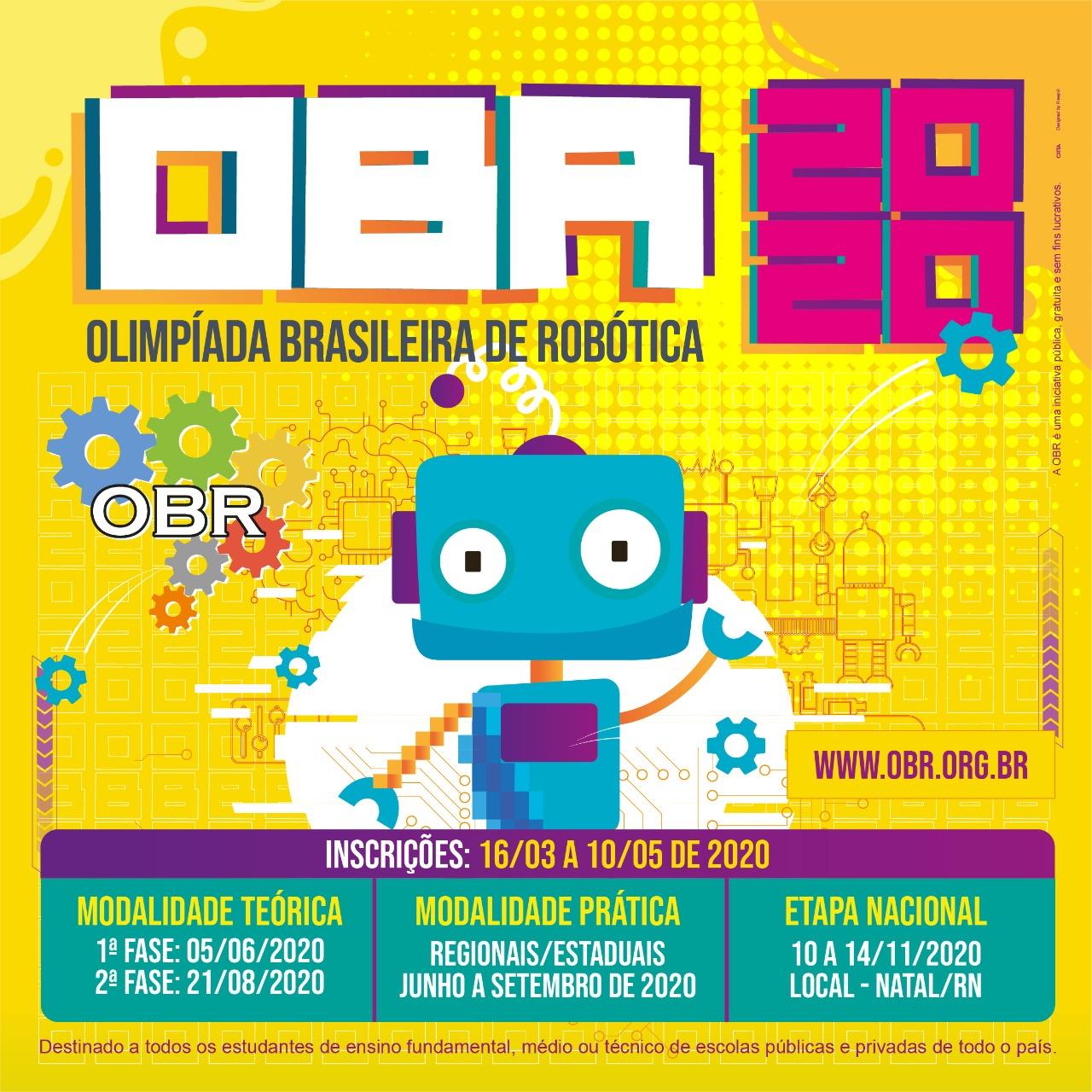 Olimpíada Brasileira de Robótica 2020 está com as inscrições abertas